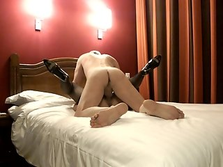 Bull with cuck's wife in Hotel