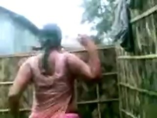 Indian Aunty's HUGE Boobs Show while bathing