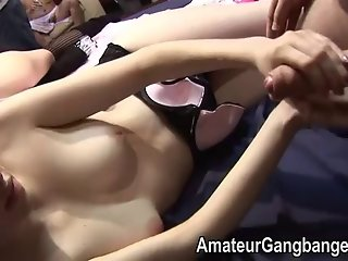 A pale amateur at a real swingers party