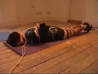 Me hogtied by Master Nick