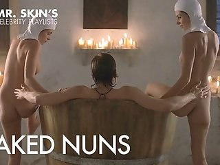 Hot Naked Celeb Nuns who wear no panties and fuck!