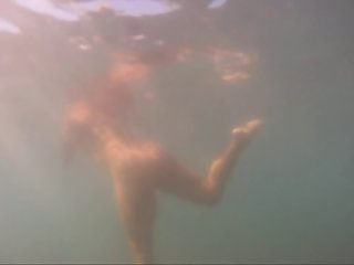 Nudist girls underwater