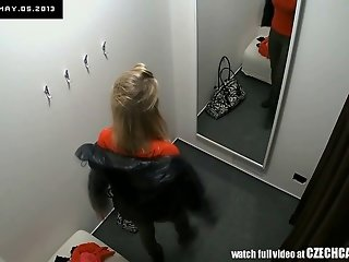 VOYEUR Two security cams in changing room