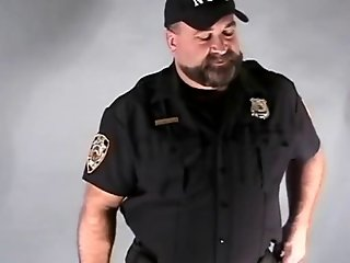 Hot Bear Cop in Uniform