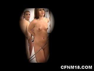 CFNM fun with undressing, painting and humiliating