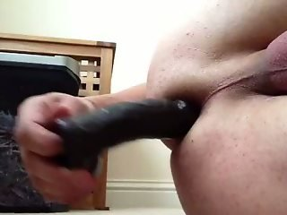 Ass fucking with huge black dildo 1