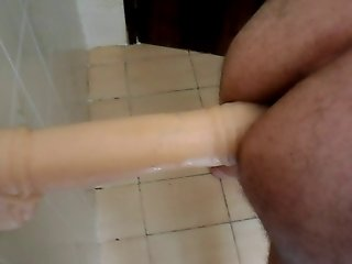 Husband with a big dildo in your ass