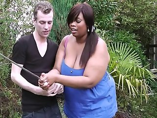 Black BBW hottie done by a golf coach