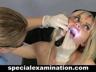 Gyno exam for sexy blonde teen babe