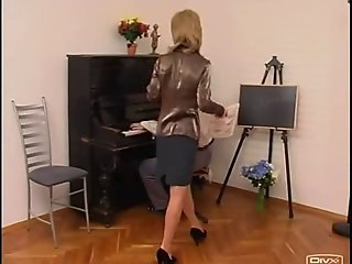 piano teacher dominates her student