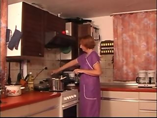 Kitchen Mature Fingered Spanked & Fuked xLx
