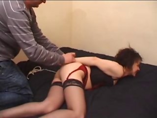 Nathalie handcuffed and analfucked