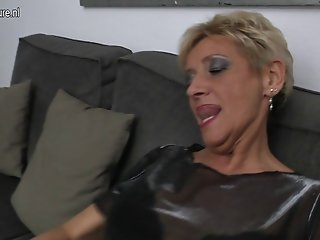 Naughty granny dreaming of young cock