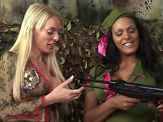 British army sluts in a FFM threesome
