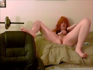 Crossdressing Dildo Play