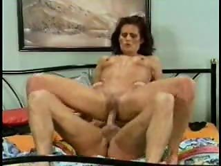 Aged Erotic Brunette Milf Fucking Hard On Bed.F70