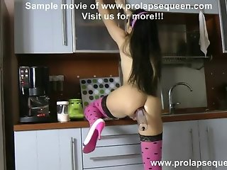 Anal fisting and prolapse pump in the kitchen movie