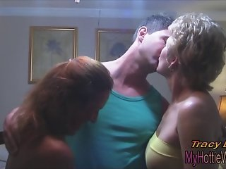 Tracy Licks....In a hot, CUM SWAPPING THREESOME with Trisha!