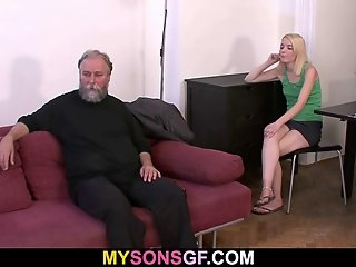 Stupid GF is fucked by not her dad