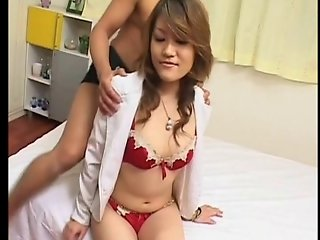 Shapely Japanese Beauty Gets Massive Creampie