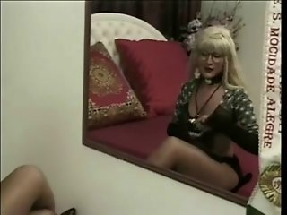 Pretty Blonde T-Girl Fucked Hard And Deep