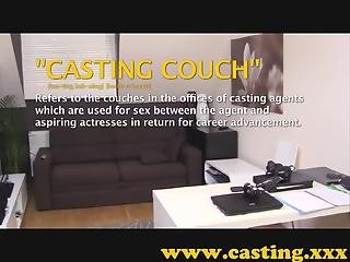 Casting - Tight silk pussy gets a huge load