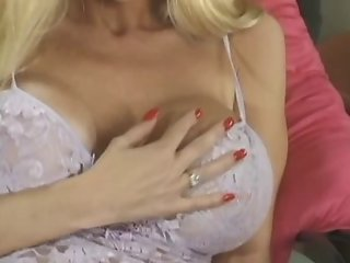 Blonde With Ugly Silicone Breasts Has Sex