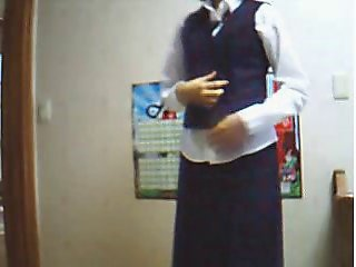 Korean Amateur School Uniform Masturbation