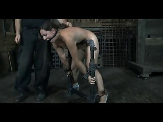 BDSM Slave Sasha Chained Whipped and Anal Hooked