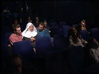 Nun fuck 2 guys in cinema -m1991a1-