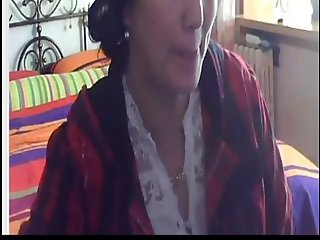 Chinese MILF show her huge tits