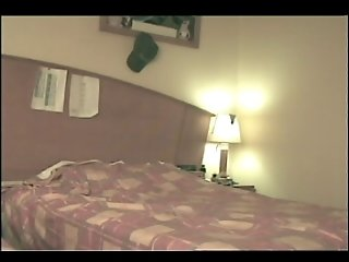 Turist girl hidden cam at hotel room