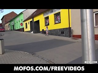 SEXY amateur Czech student is paid for intense public sex