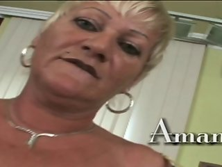 Horny granny Amanda is a fucking machine!