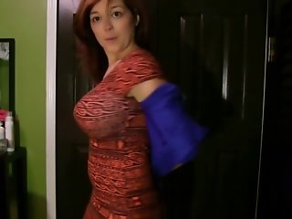 Hot Redhead Striptease