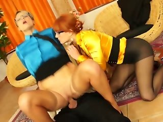 Glamour sluts get drilled by their horny stud in treeway