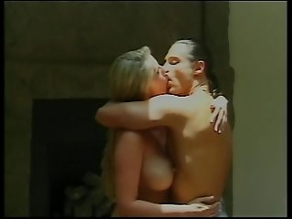 Ponytailed dude eats and fingers pretty d-cup blonde's shaved cunt