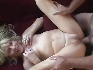 Blonde Mature Fucked From Ass by a Young Boy