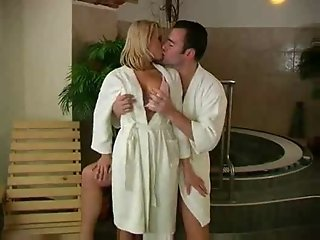 Hot Couple In The Sauna -F70