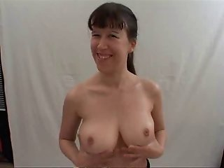 German Chick with perfect tits and some lucky dudes