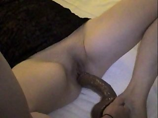 British wife gets pussy fucked with dildo