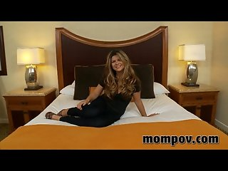 Horny housewife takes younger dick