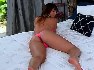 Shiny and slippery Latina ass