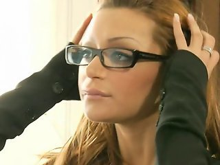 Hot Italian secretary having anal sex